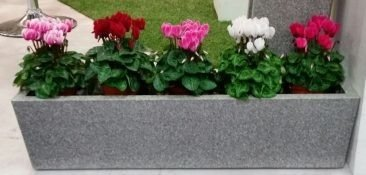Flower pot IQBANA BALCONY PLANTER 255  black