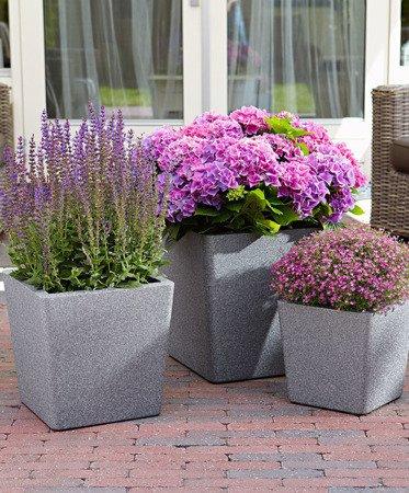 Flower pot IQBANA CONICAL 390 Grey