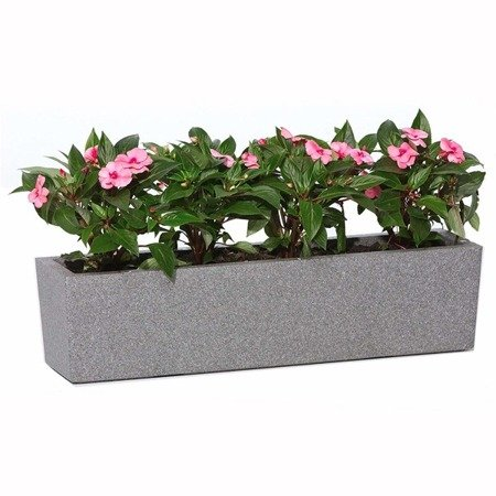 Flower pot IQBANA LUZERN 390 Grey