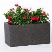 Set of 2 flower pots IQBANA RECTANGLE Grey