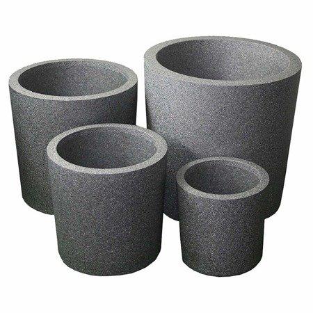 Set of 3 IQBANA ROUND pots - Grey - 480/390/320