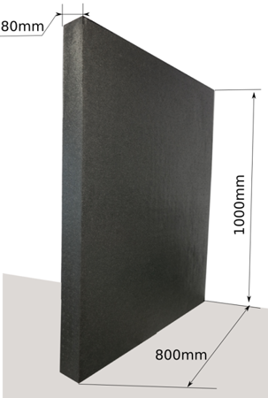 Block EPP 1000x800x80 100g/l schwarz