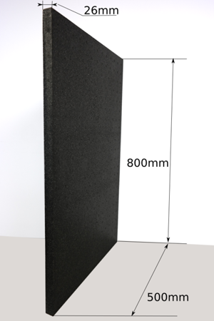 Block EPP 800x500x26 40g/l schwarz