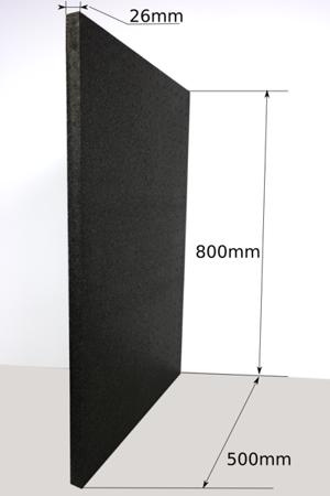 Block EPP 800x500x26 70g/l schwarz