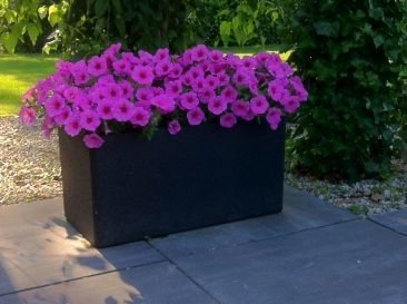 Blumentopf IQBANA RECTANGLE 760 schwarz